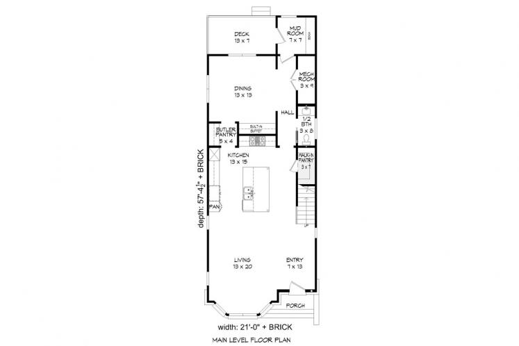 Traditional House Plan - Brownstone 73859 - 1st Floor Plan