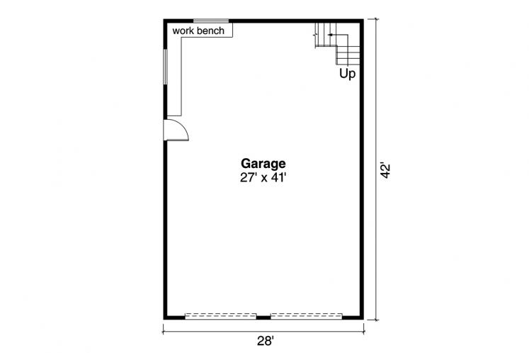 Country Garage Plan -  73881 - 1st Floor Plan