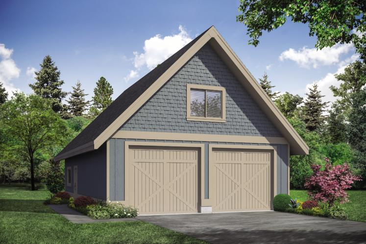 Farmhouse Garage Plan -  73881 - Front Exterior