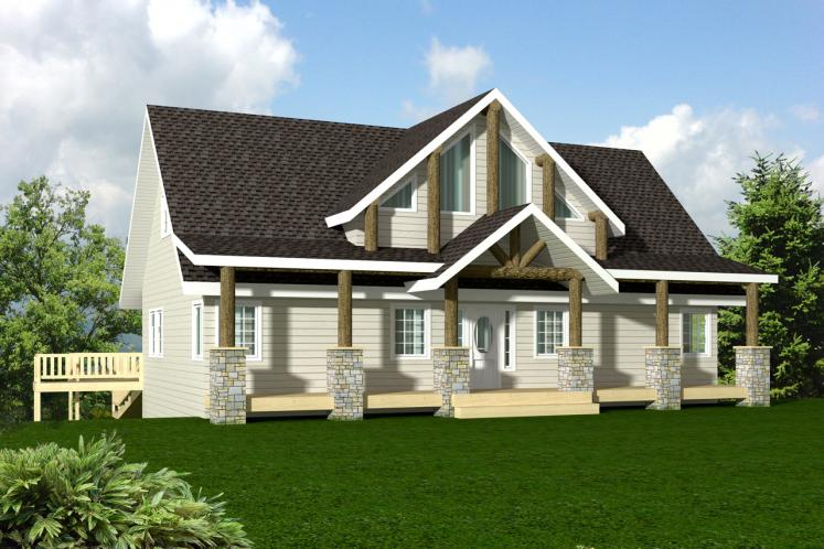 Craftsman House Plan -  73898 - Front Exterior