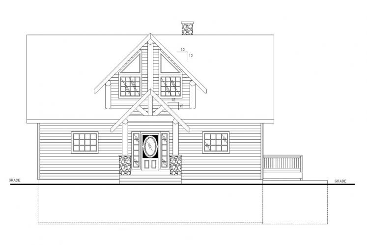 Country House Plan -  73923 - Front Exterior