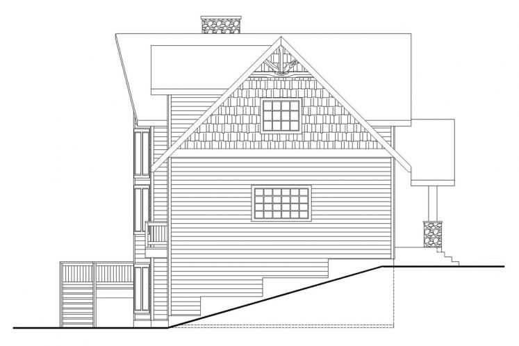Lodge Style House Plan -  73923 - Left Exterior