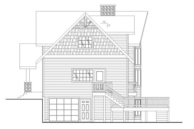 Country House Plan -  73923 - Right Exterior