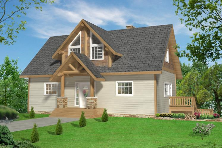 Lodge Style House Plan -  73923 - Front Exterior