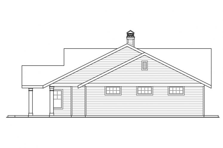 Ranch House Plan - Elk Lake 73958 - Right Exterior