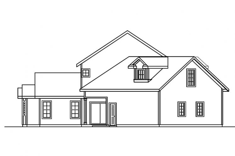 Country House Plan - Shaffer 73970 - Left Exterior