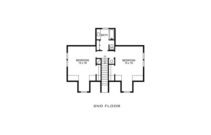 Country House Plan - Amarillo 73986 - 2nd Floor Plan