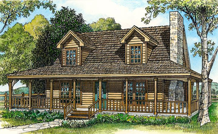 Country House Plan - Amarillo 73986 - Front Exterior
