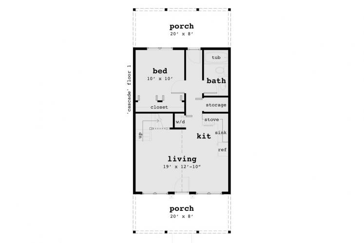 Country House Plan - Cascade 74090 - 1st Floor Plan