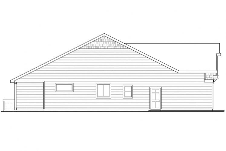 Lodge Style House Plan - Sutherlin 74098 - Left Exterior