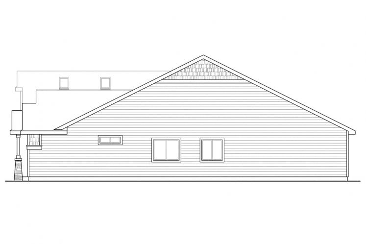 Craftsman House Plan - Sutherlin 74098 - Right Exterior