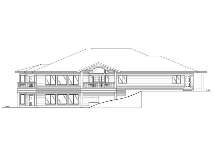 Traditional House Plan -  74103 - Rear Exterior