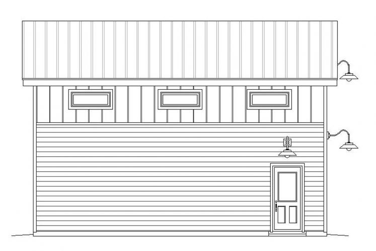 Contemporary Garage Plan -  74227 - Left Exterior