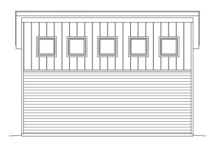 Modern Garage Plan -  74227 - Right Exterior