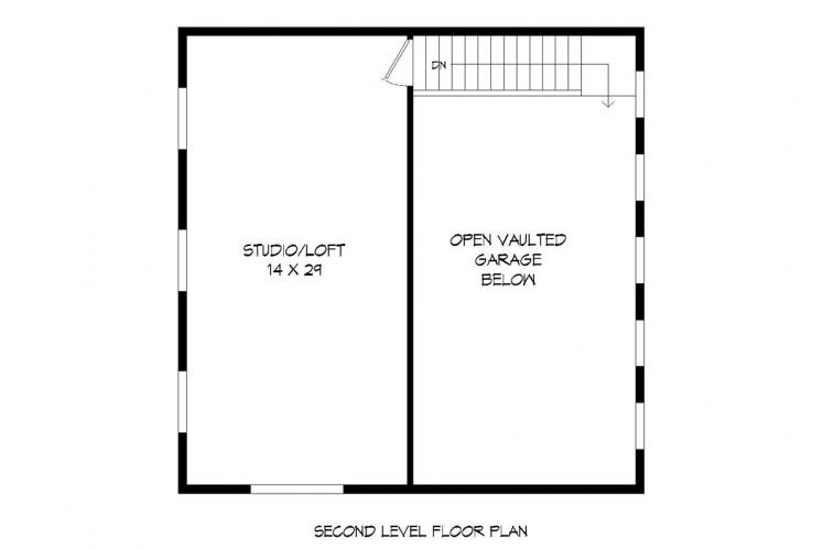 Modern Garage Plan -  74227 - 2nd Floor Plan