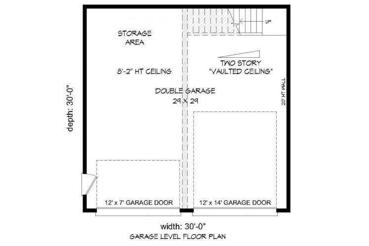 Contemporary Garage Plan -  74227 - 1st Floor Plan