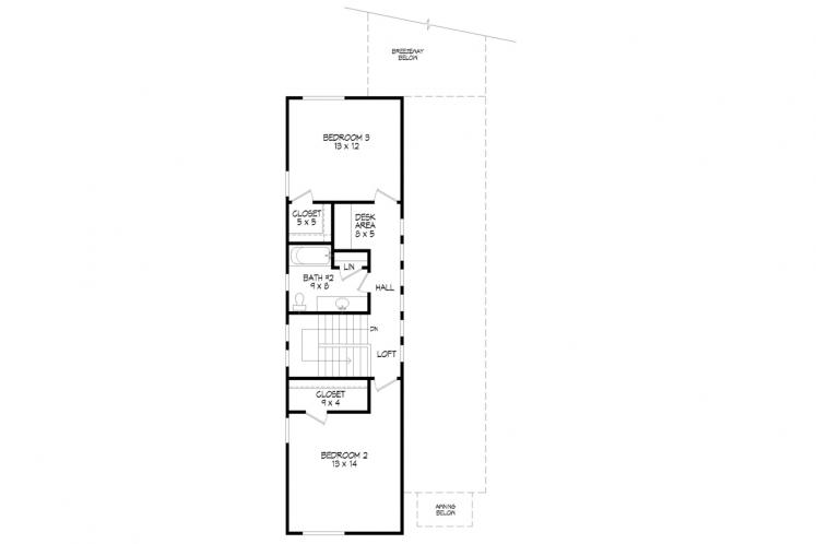 Contemporary House Plan -  74248 - 2nd Floor Plan