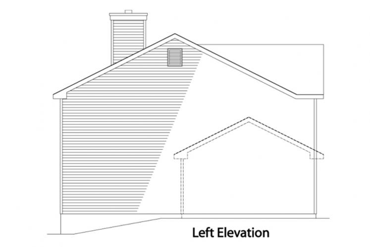 Traditional House Plan -  74272 - Left Exterior