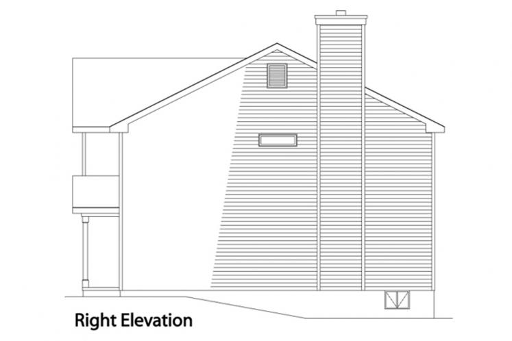 Country House Plan -  74272 - Right Exterior