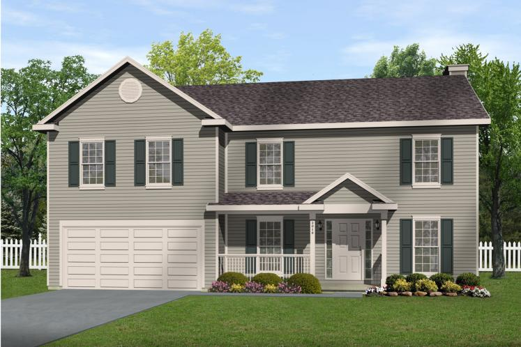 Traditional House Plan -  74272 - Front Exterior