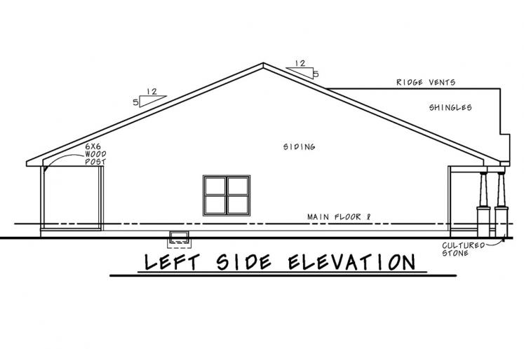 European House Plan - Weaver Glen 74352 - Left Exterior