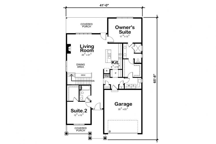 Country House Plan - Weaver Glen 74352 - 1st Floor Plan