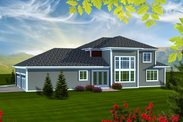 Modern House Plan -  74443 - Rear Exterior