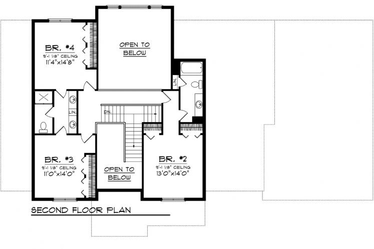 Prairie House Plan -  74443 - 2nd Floor Plan
