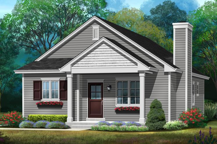 Cottage House Plan -  74517 - Front Exterior
