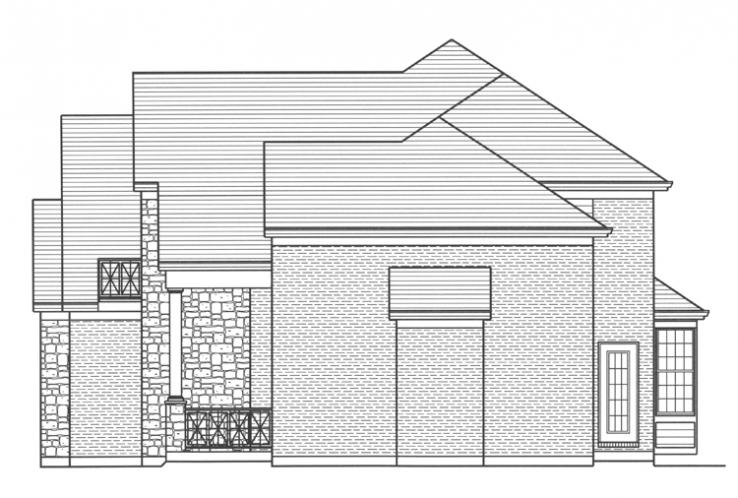 Traditional House Plan - The Chapel Hill II 74866 - Right Exterior