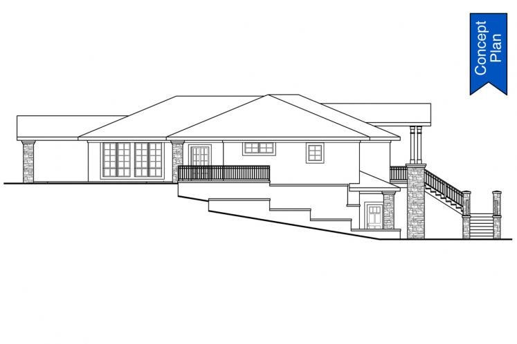 Prairie House Plan - Willakenzie 74882 - Left Exterior