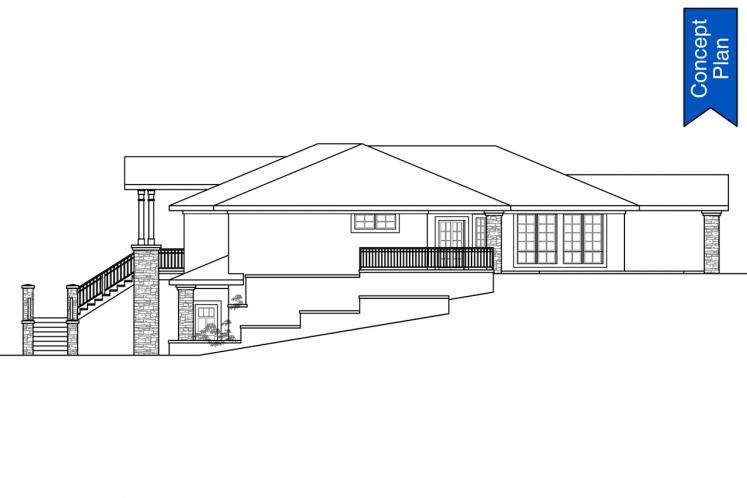 Southwest House Plan - Willakenzie 74882 - Right Exterior