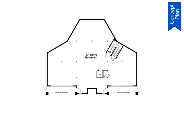 Prairie House Plan - Willakenzie 74882 - Basement Floor Plan