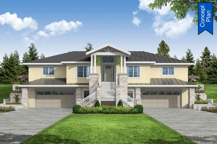 Southwest House Plan - Willakenzie 74882 - Front Exterior