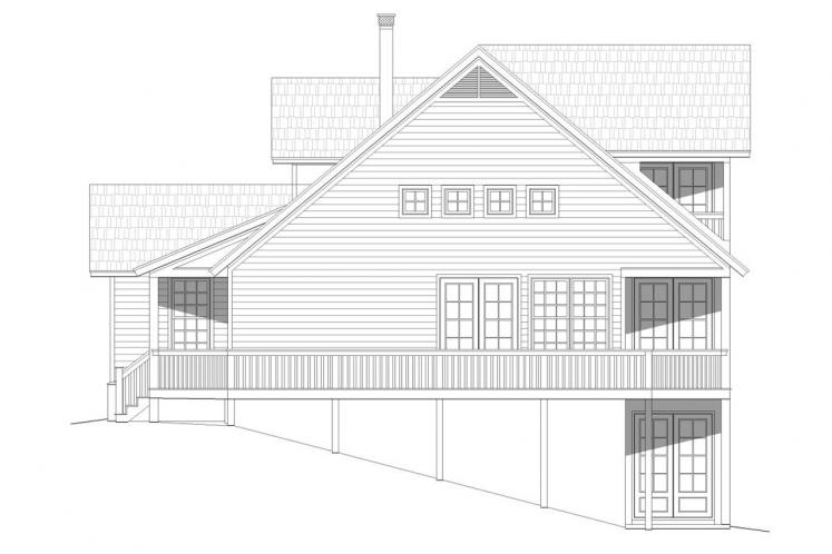 Traditional House Plan -  74918 - Left Exterior