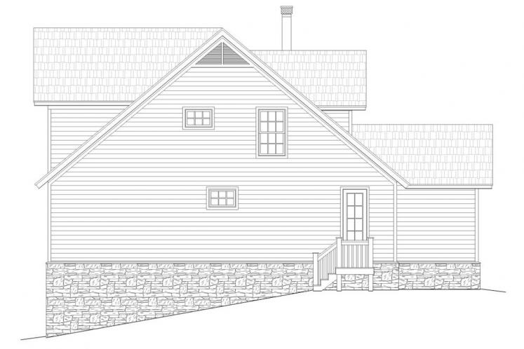 Cottage House Plan -  74918 - Right Exterior