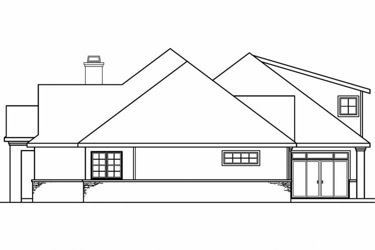 Tuscan House Plan - Meridian 75056 - Right Exterior