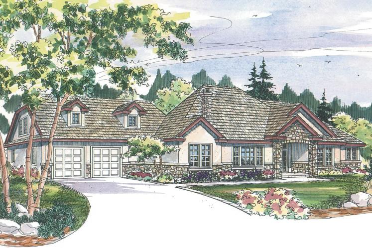 Tuscan House Plan - Meridian 75056 - Front Exterior