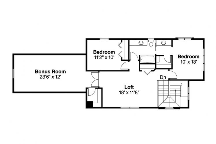 Contemporary House Plan - Larkspur 75069 - 2nd Floor Plan