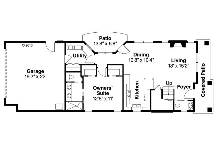 Southwest House Plan - Larkspur 75069 - 1st Floor Plan