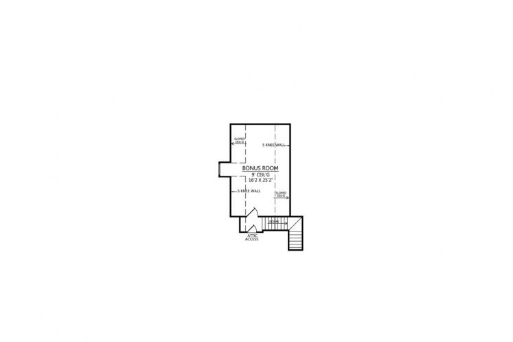 Southern House Plan - Lafayette 75105 - 2nd Floor Plan