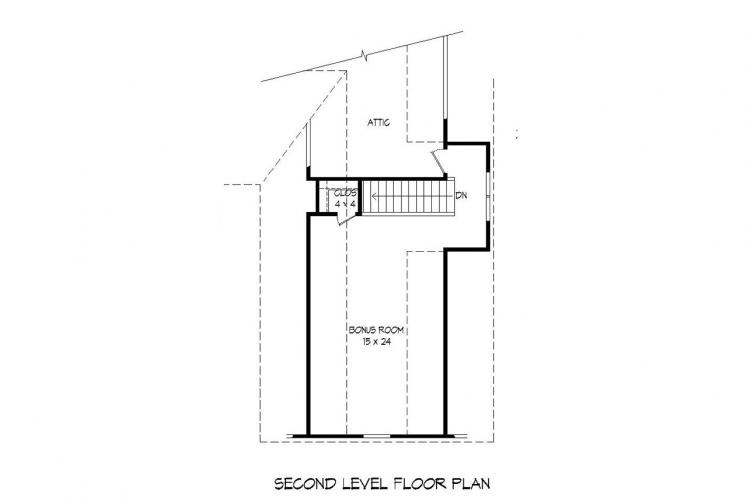 Traditional House Plan -  75155 - 2nd Floor Plan