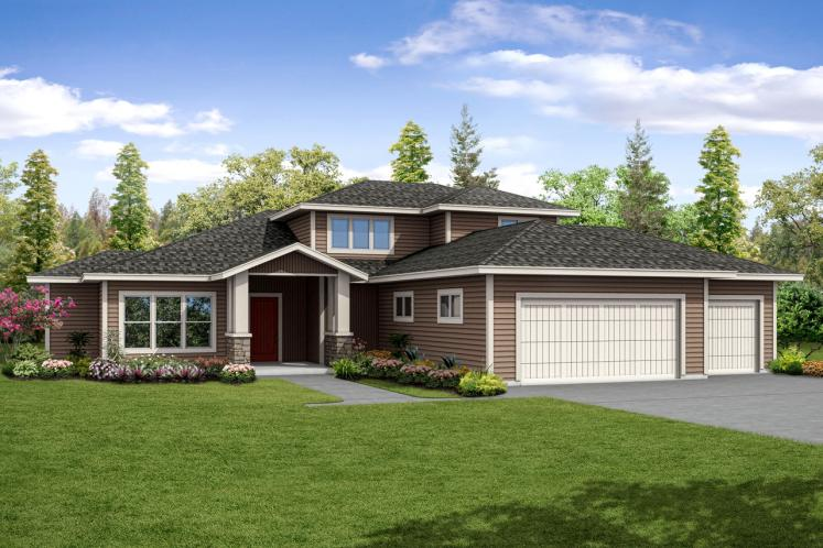 Contemporary House Plan - Quail Ridge 75294 - Front Exterior