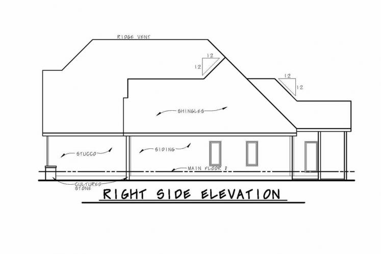 Country House Plan - Urlacher 75409 - Right Exterior