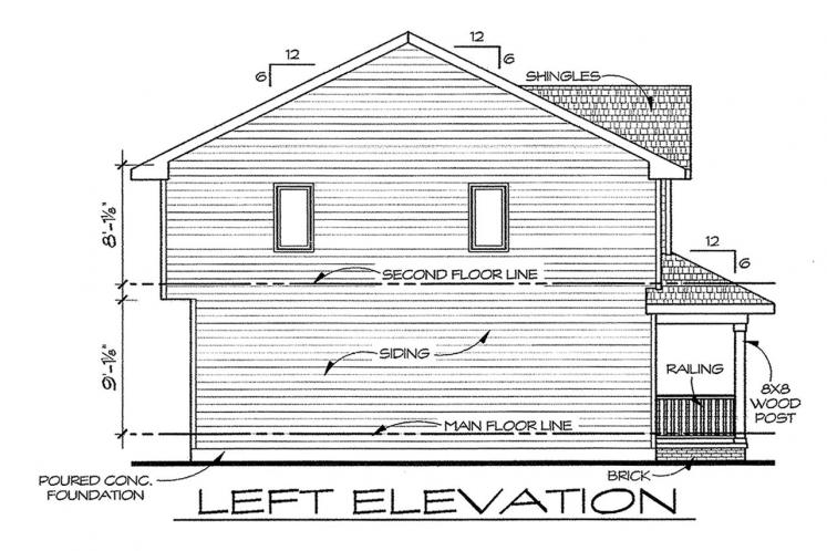 Traditional House Plan - Griffin 75429 - Left Exterior