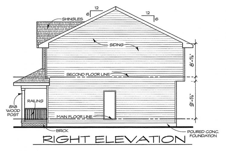 Country House Plan - Griffin 75429 - Right Exterior