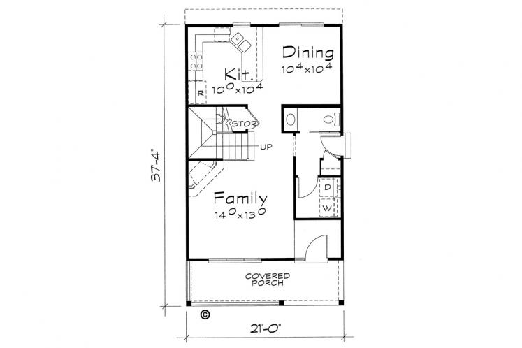Traditional House Plan - Griffin 75429 - 1st Floor Plan