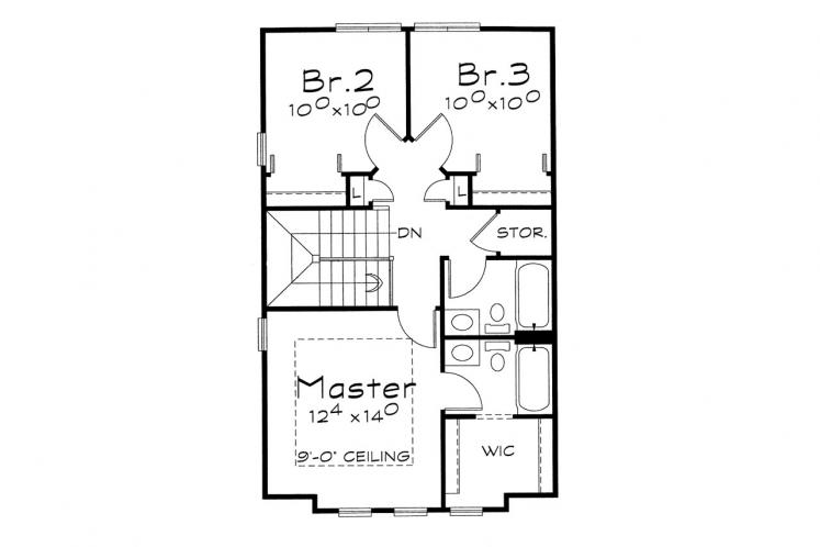 Country House Plan - Griffin 75429 - 2nd Floor Plan