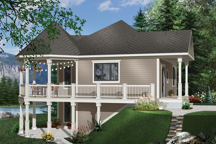 Country House Plan - The Trail Seeker 75462 - Front Exterior