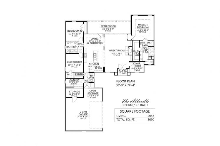 Classic House Plan - Abbeville 75646 - 1st Floor Plan